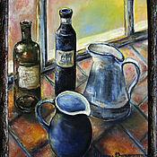 Картины и панно handmade. Livemaster - original item Oil painting in frame still life WITH JUGS. Handmade.