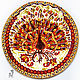 Round painting 'Golden Peacock' D 50 cm. Pictures. Art by Tanya Shest. Online shopping on My Livemaster.  Фото №2
