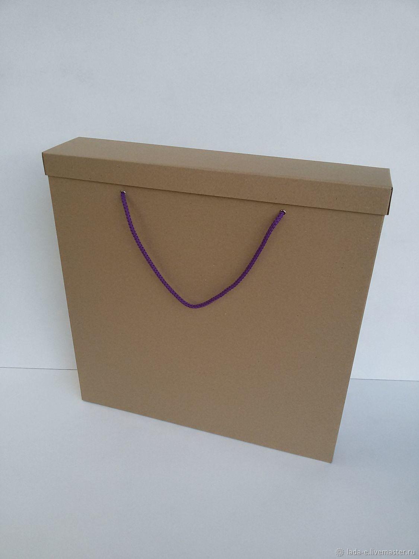Коробка для картины или альбома с ручками №4, Подарочная упаковка, Москва,  Фото №1