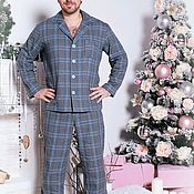 Одежда handmade. Livemaster - original item Men`s pajamas from the family`s new year collection