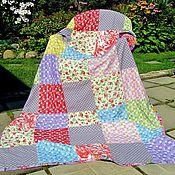 Для дома и интерьера ручной работы. Ярмарка Мастеров - ручная работа Лоскутное цветочное покрывало. Handmade.