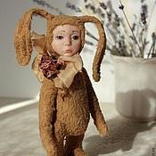 Куклы и игрушки ручной работы. Ярмарка Мастеров - ручная работа Осеннее настроение. Тедди-долл. Handmade.