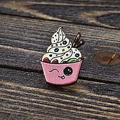 Украшения handmade. Livemaster - original item Wooden icon Sweet Cupcakes. Handmade.