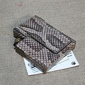 Сувениры и подарки handmade. Livemaster - original item Python skin cigarette case. Slims.  Thin cigarettes and lighter.. Handmade.