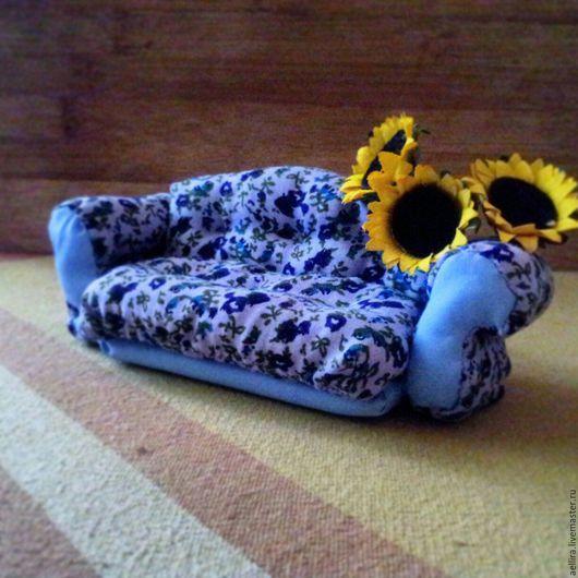 Куклы Тильды ручной работы. Ярмарка Мастеров - ручная работа. Купить Кроличий диванчик. Handmade. Комбинированный, кукольная мебель