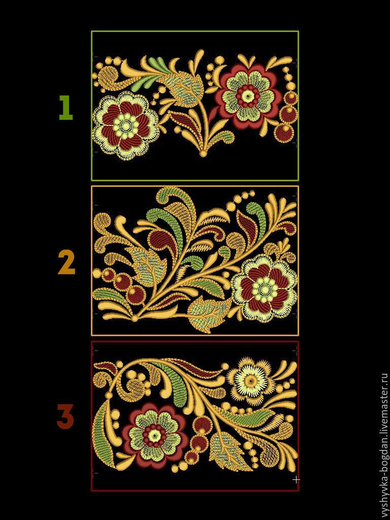 Схемы для вышивки в народном стиле