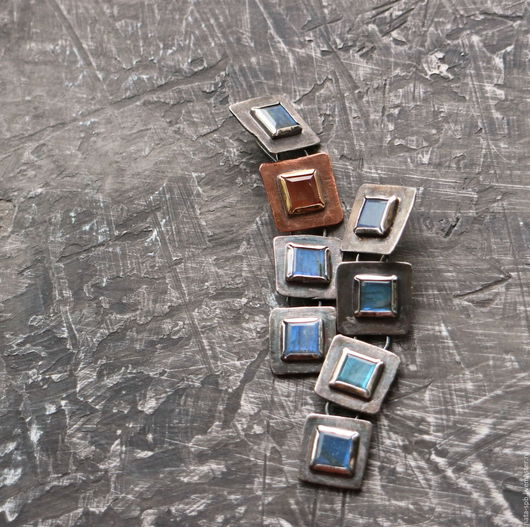 Серьги ручной работы. Ярмарка Мастеров - ручная работа. Купить 18. APRICOO SOUL серьги (натур. камни, серебро, золото, медь). Handmade.