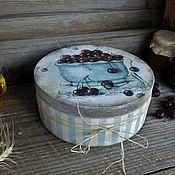 """Для дома и интерьера ручной работы. Ярмарка Мастеров - ручная работа """"Сherry"""" - Большой короб из массива дерева. Handmade."""