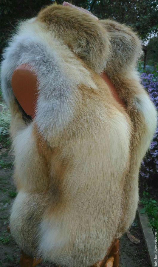Жилеты ручной работы. Ярмарка Мастеров - ручная работа. Купить Жилет меховой из лисы. Жилет из меха лисы. Жилетка меховая. На молнии.. Handmade.