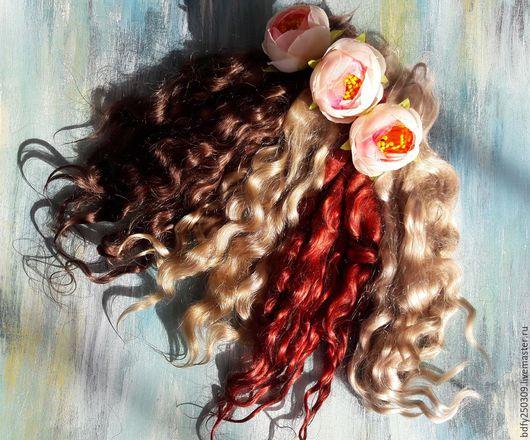 Куклы и игрушки ручной работы. Ярмарка Мастеров - ручная работа. Купить Волосы для кукол разных цветов.. Handmade. Комбинированный, ангора
