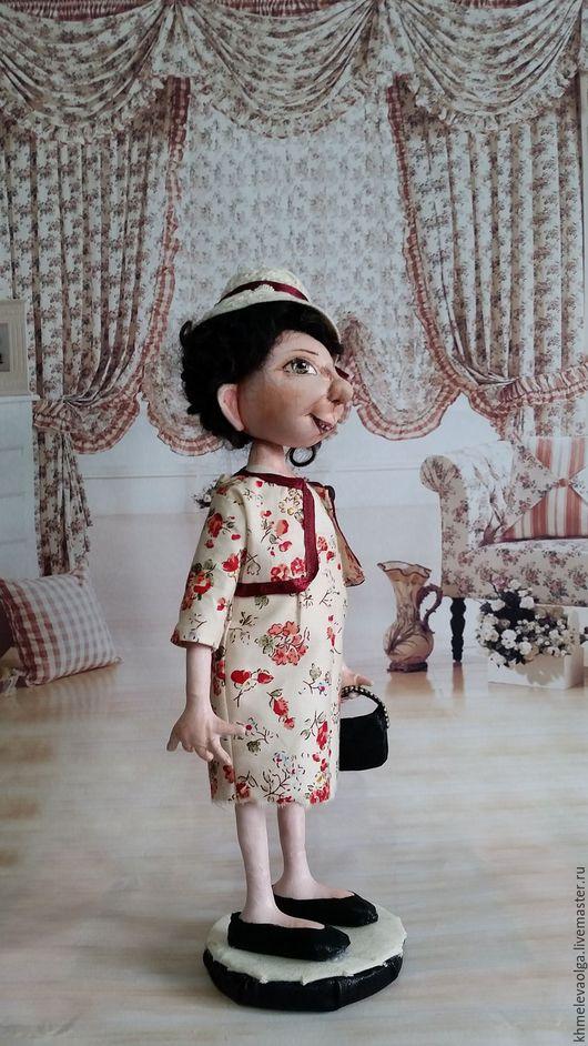 Коллекционные куклы ручной работы. Ярмарка Мастеров - ручная работа. Купить Любовь. Handmade. Бордовый, ручная работа, бязь, лак