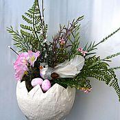 Подарки к праздникам ручной работы. Ярмарка Мастеров - ручная работа Пасхальная композиция в яйце. Handmade.