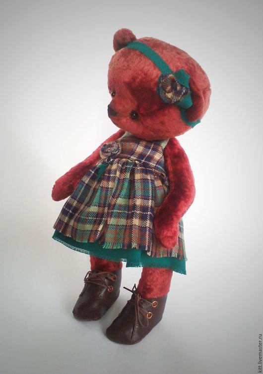 Мишки Тедди ручной работы. Ярмарка Мастеров - ручная работа. Купить Надюша. Handmade. Бордовый, платье, минеральный гранулят