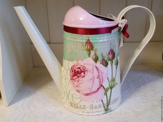 """Лейки ручной работы. Ярмарка Мастеров - ручная работа. Купить Лейка """"Роза в цвете Тиффани"""". Handmade. Лейка, подарок девушке"""