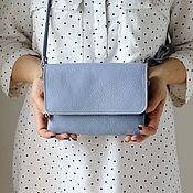 Сумки и аксессуары handmade. Livemaster - original item Sky-blue handbag through the shoulder art. Four hundred eighty three. Handmade.