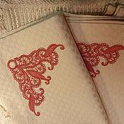 Для дома и интерьера ручной работы. Ярмарка Мастеров - ручная работа Салфетки текстильные ( с вышивкой ) №1. Handmade.