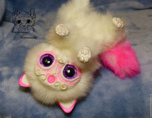 Куклы и игрушки ручной работы. Ярмарка Мастеров - ручная работа. Купить Королевский волшебный кот породы : Мирис. Розовый. Handmade.
