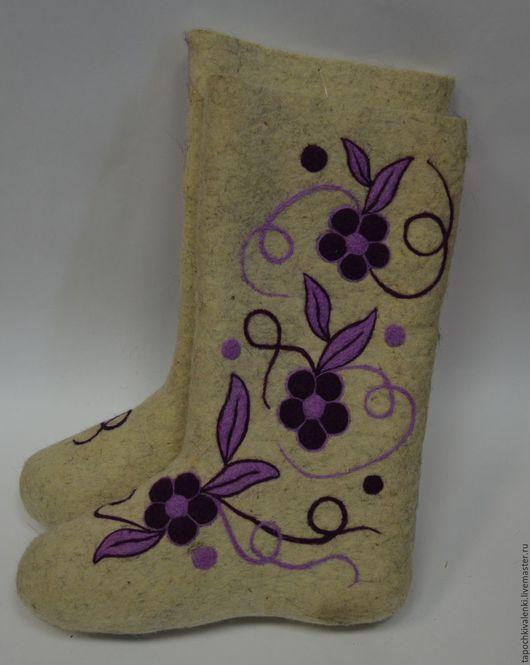 Обувь ручной работы. Ярмарка Мастеров - ручная работа. Купить Валенки с дизайнерским рисунком 38 р. Handmade. Полуваленки