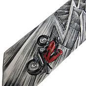Аксессуары ручной работы. Ярмарка Мастеров - ручная работа Летящий ангел - шелковый галстук с ручной росписью. Handmade.