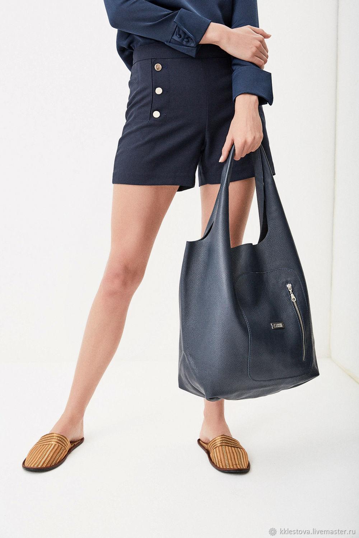 60da8fbf9771 Женские сумки ручной работы. Ярмарка Мастеров - ручная работа. Купить Мягкая  синяя сумка ...