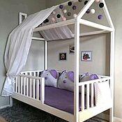 Кровати ручной работы. Ярмарка Мастеров - ручная работа Кроватка домик с вертикальными бортами. Handmade.