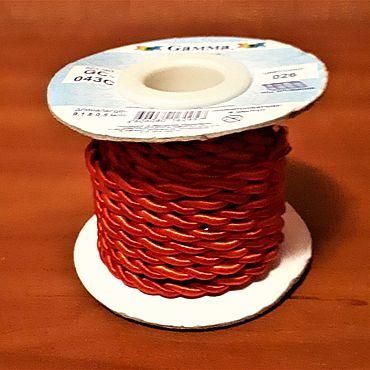 Материалы для творчества ручной работы. Ярмарка Мастеров - ручная работа Шнур витой красный 4 мм. Handmade.