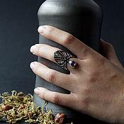 """Украшения ручной работы. Ярмарка Мастеров - ручная работа Серебряное кольцо с аметистом """"Symbol&Eye"""". Handmade."""