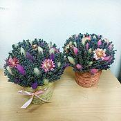 Кашпо ручной работы. Ярмарка Мастеров - ручная работа Композиции с сухоцветами в ассортименте. Handmade.