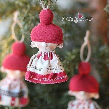 Куклы и игрушки ручной работы. Ярмарка Мастеров - ручная работа Помощницы Санты Игрушки на елку Гирлянда новогодняя. Handmade.