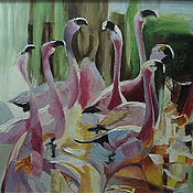 Картины и панно handmade. Livemaster - original item Flamingo. Handmade.