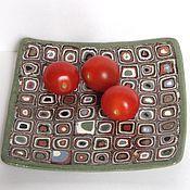 """Посуда ручной работы. Ярмарка Мастеров - ручная работа Тарелка """"Геометрия"""". Handmade."""