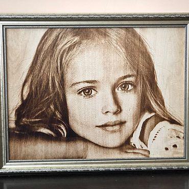Картины и панно ручной работы. Ярмарка Мастеров - ручная работа Выжигание портретов на дереве. Оригинальный подарок. Handmade.