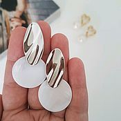 Украшения handmade. Livemaster - original item Mother of pearl earrings. Handmade.