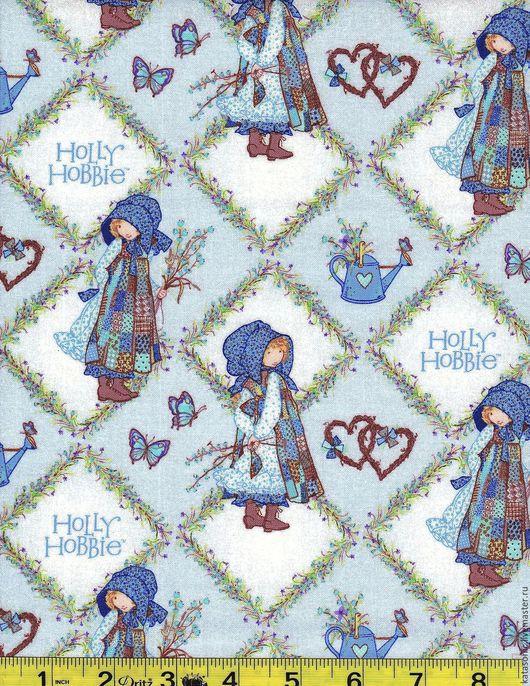 Шитье ручной работы. Ярмарка Мастеров - ручная работа. Купить 1317 Американская ткань. Handmade. Голубой, ткань с рисунком, ткань