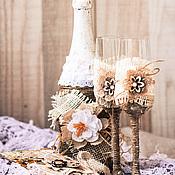 Подарки к праздникам ручной работы. Ярмарка Мастеров - ручная работа Свадебный набор в стиле рустик. Handmade.