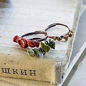 Украшения handmade. Livemaster - original item Set of copper rings with stones. Jasper Hematite Tiger`s Eye. Handmade.