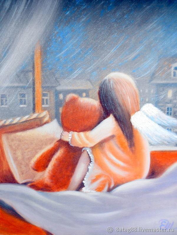 Картина Зимняя сказка Золотистый ангел, Картины, Москва,  Фото №1