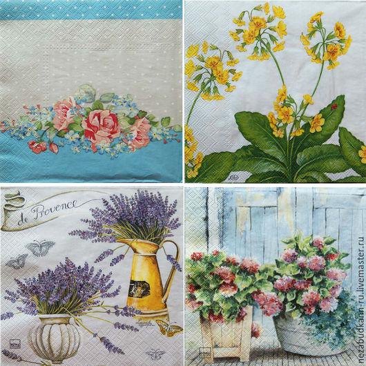 Слева направо сверху вниз: «Розы и незабудки» - 216 217 «Прованс» - 220 «Садовые цветы» - 223