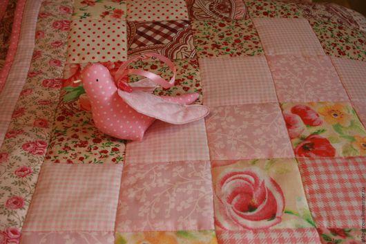 """Текстиль, ковры ручной работы. Ярмарка Мастеров - ручная работа. Купить Одеяло-покрывало пэчворк """"Нежнее нежного"""". Handmade. Покрывало"""