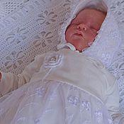 """Работы для детей, ручной работы. Ярмарка Мастеров - ручная работа Комплект на выписку  для новорожденной девочки """" прелестное создание"""". Handmade."""