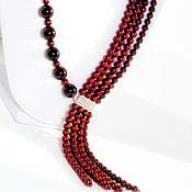 Украшения handmade. Livemaster - original item Necklace with pearl and garnet