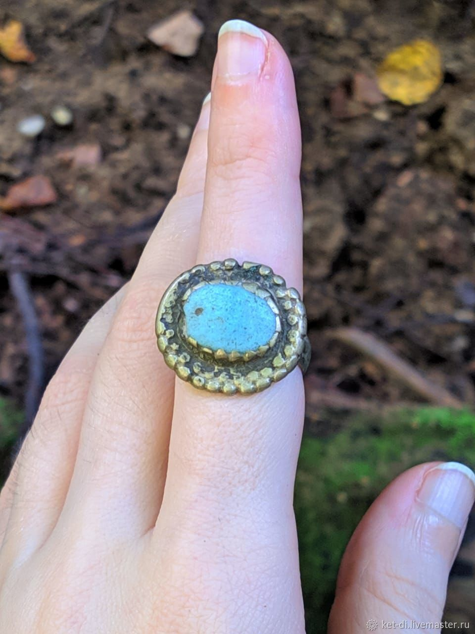 Vintage ring with blue stone, Rings, Moscow,  Фото №1