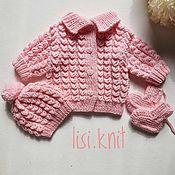 Одежда детская handmade. Livemaster - original item Sweater hat booties knit kit solar. Handmade.