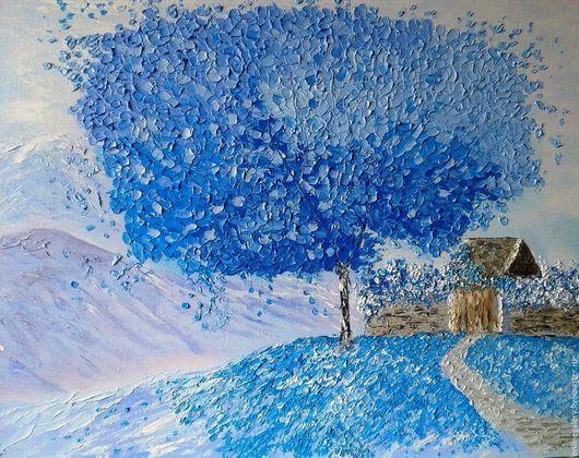 """Пейзаж ручной работы. Ярмарка Мастеров - ручная работа. Купить Картина """"Сказочное дерево"""" масло 40х50см. Handmade. Картина, природа"""