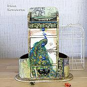 """Для дома и интерьера ручной работы. Ярмарка Мастеров - ручная работа """"Марокканский павлин"""", мини-комодик. Handmade."""