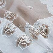 "Аксессуары handmade. Livemaster - original item Льняной  женский палантин из ткани Chanel ""Мечты из роз"". Handmade."