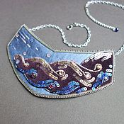 Украшения handmade. Livemaster - original item Copy of Copy of Necklace beaded IRISES. Handmade.