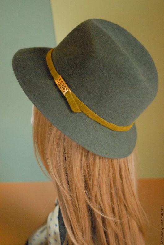 """Шляпы ручной работы. Ярмарка Мастеров - ручная работа. Купить """"Этюд в осенних тонах"""". Handmade. Хаки, шляпа, стильный аксессуар"""