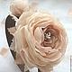 Ободок с пионовидными розами