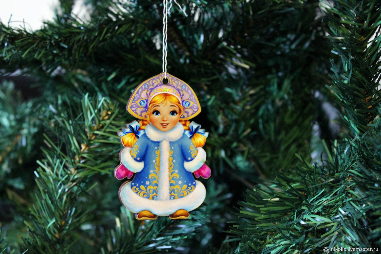 Новогодняя игрушка на елку. Снегурочка, Дед Мороз и Снегурочка, Шахты,  Фото №1